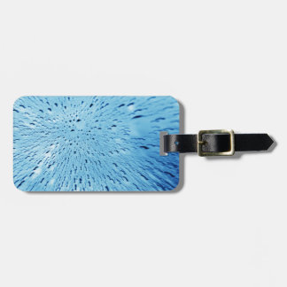 Abstract water background luggage tag