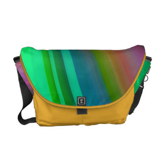 Abstract Water Color Rainbow Elegant Multicolor Commuter Bags
