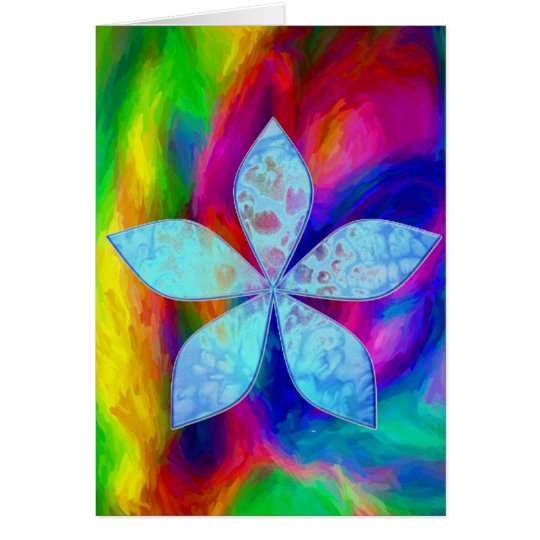 Abstract Water Colours Card