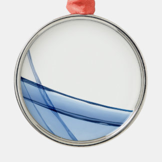 Abstract Water Illustration Useful Background Silver-Colored Round Decoration