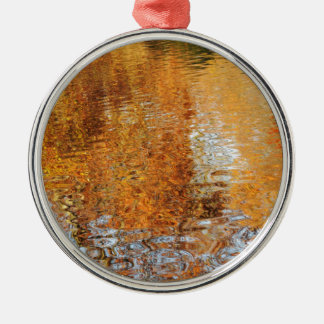 Abstract water reflections in autumn christmas ornament