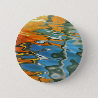 Abstract water reflections in Venice 6 Cm Round Badge