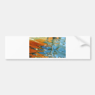 Abstract water reflections in Venice Bumper Sticker