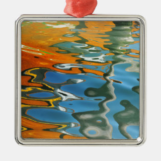 Abstract water reflections in Venice Christmas Ornament