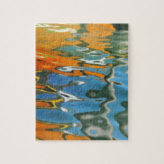 Abstract water reflections in Venice Jigsaw Puzzle
