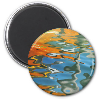 Abstract water reflections in Venice Magnet