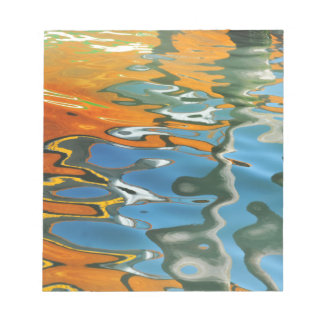 Abstract water reflections in Venice Notepad