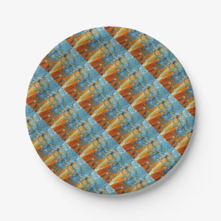 Abstract water reflections in Venice Paper Plate