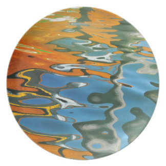 Abstract water reflections in Venice Plate