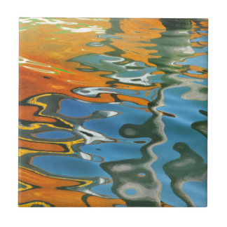 Abstract water reflections in Venice Tile