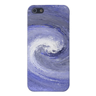 Abstract Water whirl whirlpool – Blue iPhone 5/5S Covers