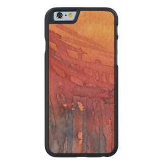 Abstract watercolor 3 carved maple iPhone 6 case