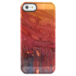 Abstract watercolor 3 clear iPhone SE/5/5s case