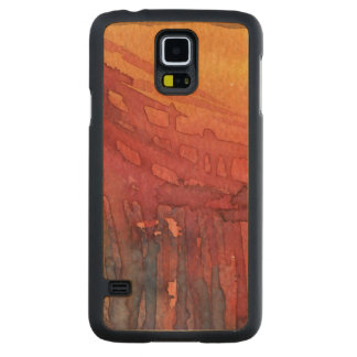 Abstract watercolor 3 maple galaxy s5 slim case
