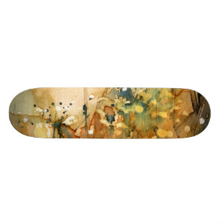 Abstract watercolor and old background 18.1 cm old school skateboard deck