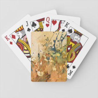 Abstract watercolor and old background playing cards