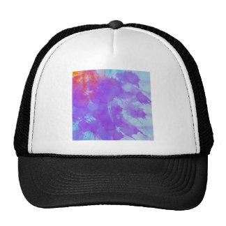 Abstract Watercolor Art Violet, Blue,Red, Yellow Trucker Hats