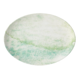 Abstract  watercolor background 2 porcelain serving platter