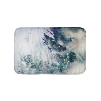 Abstract watercolor background on grunge paper 2 bath mat