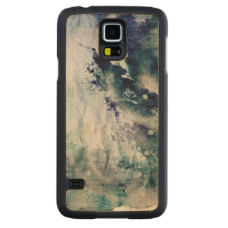 Abstract watercolor background on grunge paper 2 carved maple galaxy s5 case