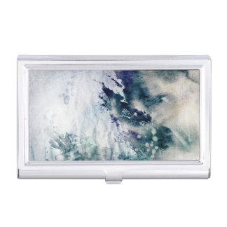 Abstract watercolor background on grunge paper 2 case for business cards