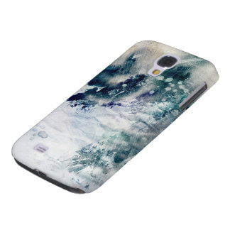 Abstract watercolor background on grunge paper 2 galaxy s4 case