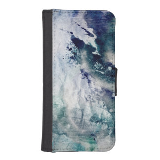 Abstract watercolor background on grunge paper 2 iPhone SE/5/5s wallet case