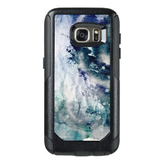 Abstract watercolor background on grunge paper 2 OtterBox samsung galaxy s7 case