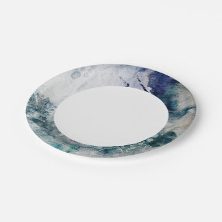 Abstract watercolor background on grunge paper 2 paper plate
