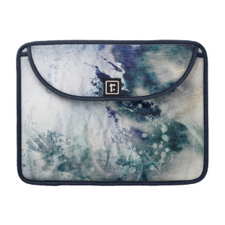 Abstract watercolor background on grunge paper 2 sleeve for MacBook pro
