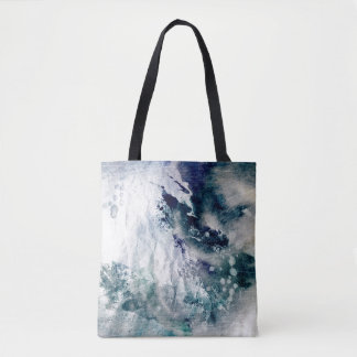Abstract watercolor background on grunge paper 2 tote bag