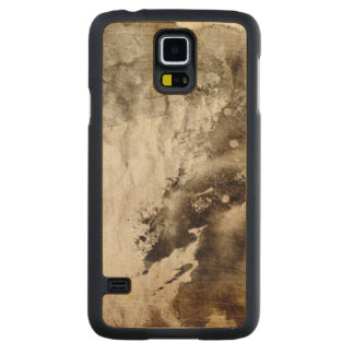Abstract watercolor background on grunge paper carved maple galaxy s5 case
