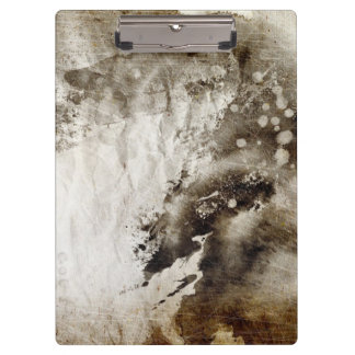 Abstract watercolor background on grunge paper clipboard