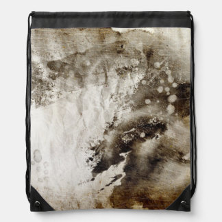 Abstract watercolor background on grunge paper drawstring backpacks