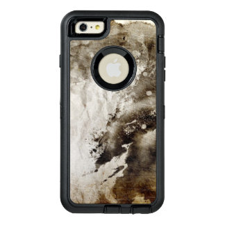 Abstract watercolor background on grunge paper OtterBox defender iPhone case