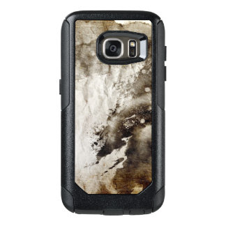 Abstract watercolor background on grunge paper OtterBox samsung galaxy s7 case