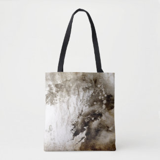 Abstract watercolor background on grunge paper tote bag