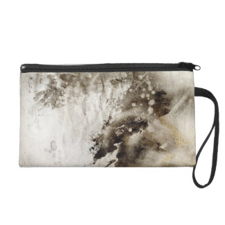 Abstract watercolor background on grunge paper wristlet