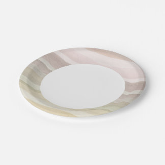 Abstract watercolor background paper plate