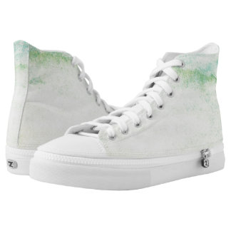 Abstract  watercolor background printed shoes