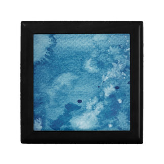 Abstract Watercolor Background Small Square Gift Box