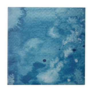 Abstract Watercolor Background Small Square Tile