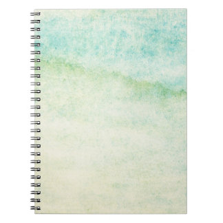 Abstract  watercolor background spiral notebook