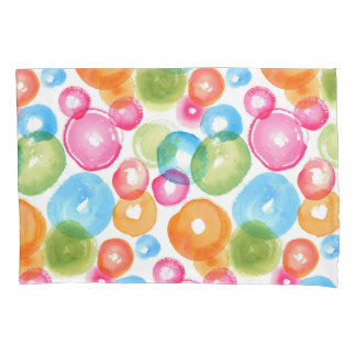 Abstract Watercolor Circles Pillowcase
