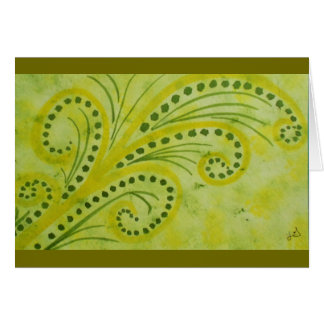 Abstract watercolor ferns card