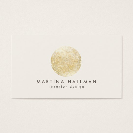 Abstract Watercolor Gold Circle Logo on Ivory Business