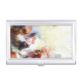 Abstract watercolor grunge texture with paint business card holders