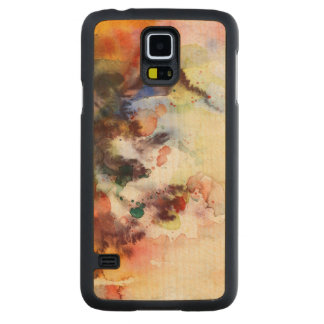 Abstract watercolor grunge texture with paint carved maple galaxy s5 case