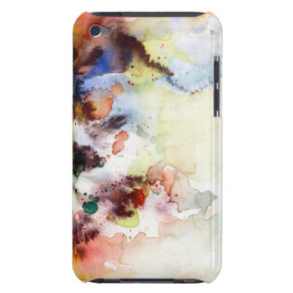 Abstract watercolor grunge texture with paint iPod touch case