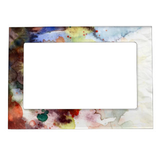 Abstract watercolor grunge texture with paint magnetic picture frame
